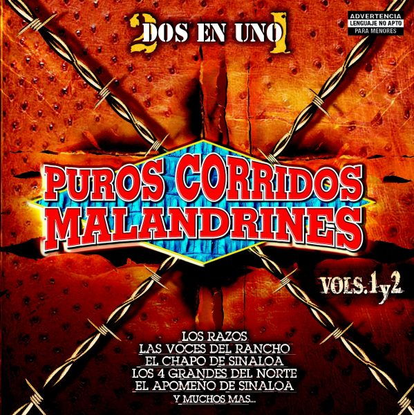 Puros Corridos Malandrines (Dos En Uno) Vols. 1 y 2 - Varios-0